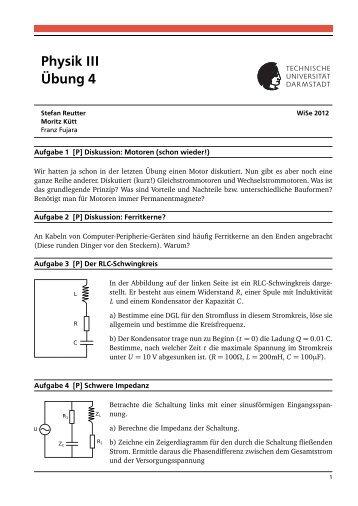 Physik III Übung 4