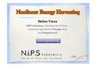 Nonlinear Energy Harvesting - Fisica - Università degli Studi di ...