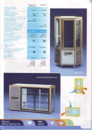 Refrigerated display cases for snacks