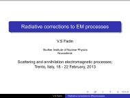 Radiative corrections to EM processes - Fisica
