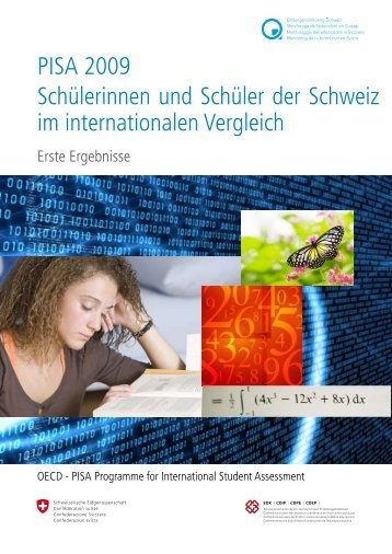 PISA 2009 Schülerinnen und Schüler der Schweiz im internationalen ...