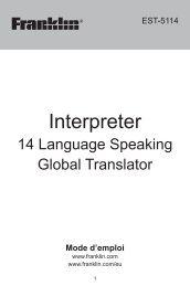 Interpreter - Franklin Electronic Publishers, Inc.