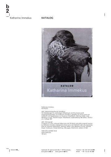 Katharina Immekus KATALOG - Galerie b2