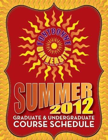 Summer 2012 Course Schedule (PDF) - Fontbonne University