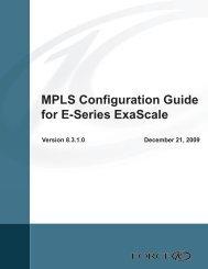 MPLS labels - Force10 Networks