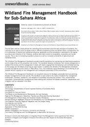 Wildland Fire Management Handbook for Sub-Sahara Africa