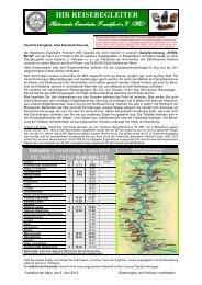 Ihr Reisebegleiter - Historische Eisenbahn Frankfurt
