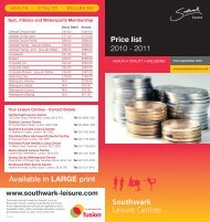 Southwark Available in LARGE print Price list 2010 ... - Fusion Lifestyle