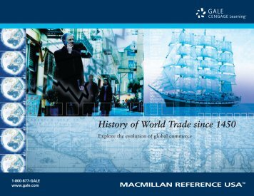 History of World Trade Since 1450 - Gale - Cengage Learning