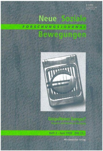 Vollversion (5.14 MB) - Forschungsjournal Neue Soziale Bewegungen