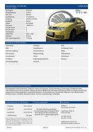 Skoda Fabia 1.2 Cool Edition Klima 9.390 EUR - Autohaus Schulze