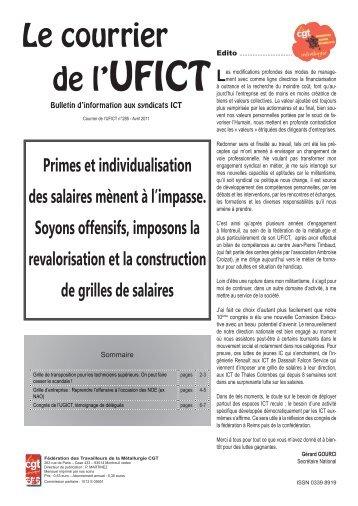 Courrier de l'UFICT - Féderation - La cgt