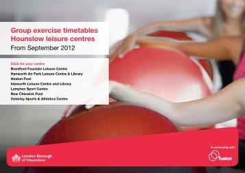 Group exercise timetables Hounslow leisure centres - Fusion Lifestyle