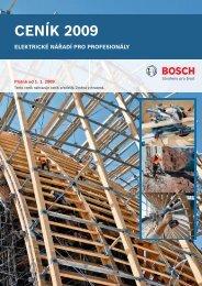Bosch CZ_cenik Profi 2009.indd - Nářadí Škaloud sro