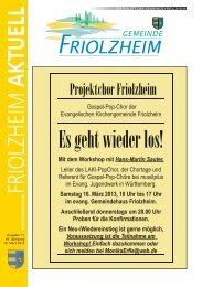 Blättle KW 11 - Friolzheim