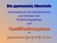 Qualifikationsphase - gymnasium am wall verden