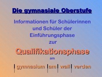 Qualifikationsphase - gymnasium am wall verden