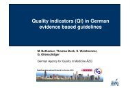 Quality Indicators (QI) in German evidence-based guidelines (S121)