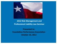 2012 Risk Management and Professional Liability Law Seminar.pptx
