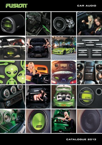 CAR AUDIO CATALOGUE 2013 - Fusion