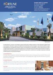Fact Sheet Park DJ Avenue.cdr - Fortune Park Hotels