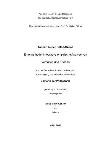Tanzen in der Salsa-Szene Eine ... - Deutsche Sporthochschule Köln