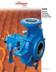 ERPN API 610 Overhung End Suction Process Pump - Flowserve