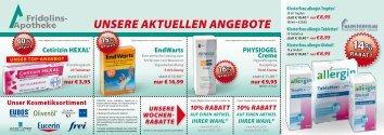 Unsere aktUellen angebote - Fridolins-Apotheke