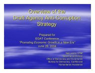 USAID's Draft Anti-Corruption Strategy - Neil Levine - Fiscal Reform