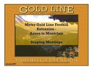 Meeting PowerPoint Presentation - Metro Gold Line Foothill Extension