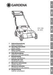 OM, Gardena, Scarificateur électrique, Art 04070-20, 2005-01
