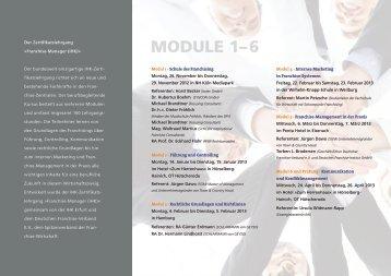 Module 1–6 - Deutscher Franchise-Verband