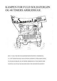 kampen for fuld soldaterløn og 40 timers arbejdsuge - Det danske ...