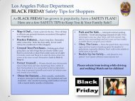 Los Angeles Police Department BLACK FRIDAY Safety Tips