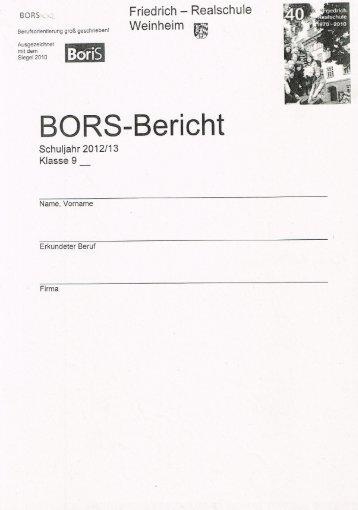 Bors - auf der Website der Friedrich Realschule Weinheim.