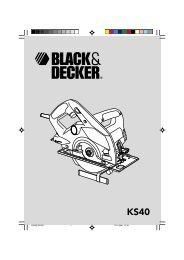 1 KS40EUR.P65 17-10-2001, 12:20 1 - Service - Black & Decker