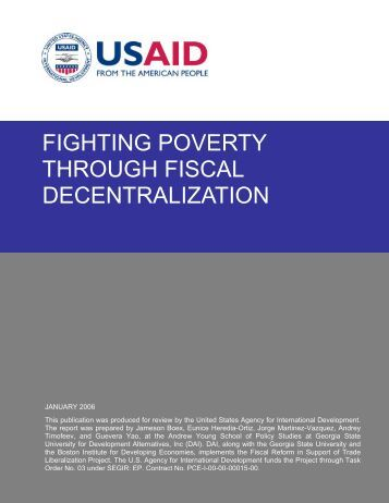 FIGHTING POVERTY THROUGH FISCAL DECENTRALIZATION