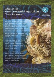 Details of the Maori Commercial Aquaculture Claims Settlement