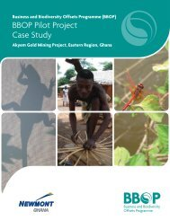 BBOP Pilot Project Case Study - Forest Trends