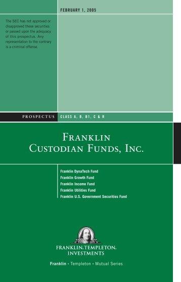 FRANkLiN CUSTODiAN FUNDS, INC. - Franklin Templeton