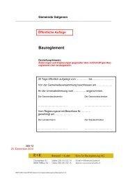 Baureglement [PDF, 279 KB] - Galgenen