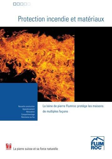 Protection incendie et matériaux - Flumroc