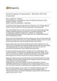 Solarreinigung im Sauerland Œ Schützen Sie Ihre ... - Firmendb