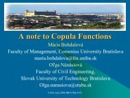 A note to Copula Functions - CASA