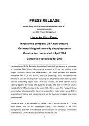 Limbecker Platz, Essen: Investor trio complete - Union Investment