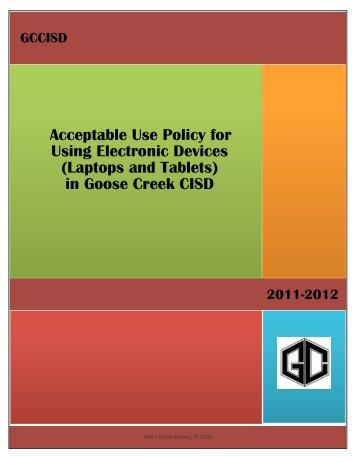 Student Acceptable Use Policy for Using Electronic Devices at ...