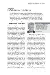 Die Ästhetisierung des Politischen - Neue Gesellschaft Frankfurter ...