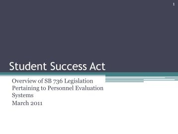 Student Success Act - Florida Department of Education