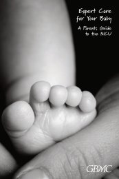 Expert Care for Your Baby Expert Care for Your Baby - Greater ...