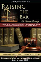 Inaugural Issue 2013 - Genesee County Bar Association